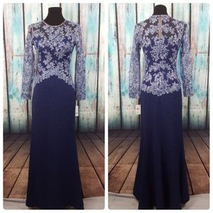 NWT Tadashi Shoji Kalinda Embroidered Dress